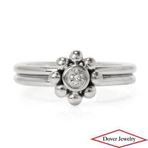 Tiffany & Co Paloma Picasso Diamond 18K Gold Elegant Flower Ring NR