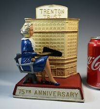 Vintage Souvenir Building Bank Grey Iron Trenton Trust Mary Roebling Mint!