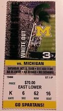 2009 Michigan Wolverines Michigan State Ticket Stub Football