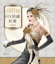 Art Deco 1920s Lady  Celebrate Cocktail Hour  Birthday Card  FREE 1ST CLASS POST