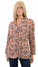 Vintage 70s RETRO BLAZER Button Front Plaid HIPSTER Jacket Polyester Top sz L