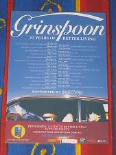 GRINSPOON  - 2017  AUSTRALIAN TOUR -  LAMINATED PROMO TOUR POSTER
