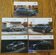 2020 Cadillac Dealer Promotional 5 Postcard Set - Escalade, XT4, XT5, XT6, CT5