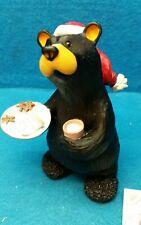 "Bearfoots Bear by Jeff Fleming ""Ready for Santa"" Big Sky Carvers NOS"