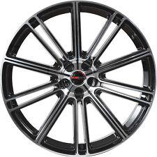 4 GWG Wheels 20 inch STAGGERED Black FLOW Rims fits NISSAN 350Z 2002 - 2008