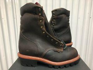 "Chippewa Arador Work Boots 9"" Waterproof Leather Steel Toe 12E 25405 USA Logger"