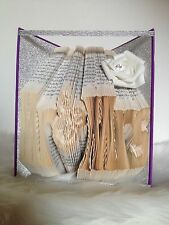 "Book Art Folding Pattern  ""Choose Your Own Text"" Custom Design"