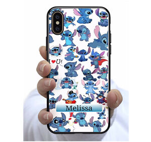 Personalised Name Stitch Phone Case Cover for Apple iPhone Samsung Galaxy  #53
