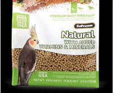 New listing Zupreem Natural medium birds tiel conure quaker 2.5lb