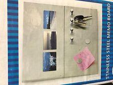 Acier Inoxydable Memo Board Key Holder Cadre Photo RRP £ 14.99