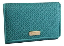Saddler Leather Embossed Purse Wallet Teal Blue