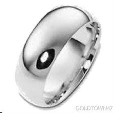 14K White Gold 3mm 4mm 5mm Comfort Fit Men Or Women Wedding Band Ring
