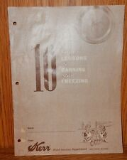 1969 Kerr Canning Booklet 10 Short Lessons in Canning Freezing Food Preservation
