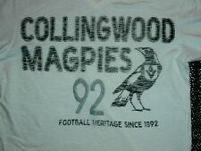 COLLINWOOD MAGPIES 1892 Vintage Distressed Fit  First 18 T-Shirt Mens M AFL VFL