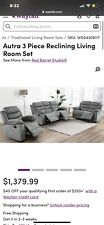 3 Piece Reclining Couch Set