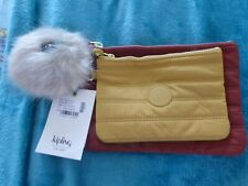 Kipling Duo Pouch Tuscan Red Quilt – NWT