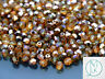 1200 Fire Polished Beads 4mm Copper Medium Topaz WHOLESALE