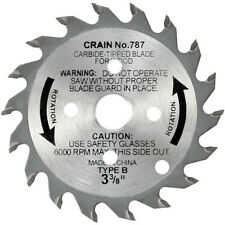 Crain Cutter 787 3-3/8-Inch 18 Tooth Wood Saw Blade for 795 Toe Kick Saw
