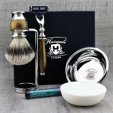 5 PIECE CLASSIC GROOMING SHAVING SET ft SilverTip Badger Brush & Gillette Mach3