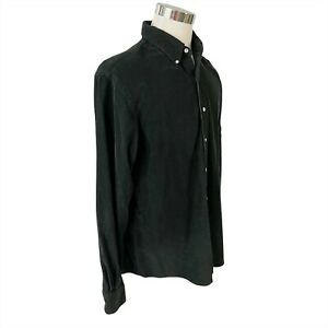 Ralph Lauren Polo LS Shirt Size XL Button Down Black Corduroy Purple Pony