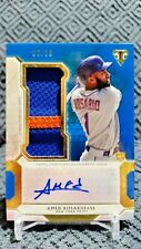 2018 Topps Triple Threads Amed Rosario New York Mets Patch Auto 2/10