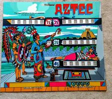 Williams AZTEC Pinball Machine Translite Looks Just Like Backglass