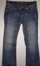 Grace in LA Jeans Sz 5x32 Dark Wash Embroidered Boot Cut Denim Womens/Juniors