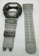For G-shock GX-56  transparent matte grey jelly bezel and strap