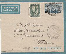 GEMELLI 1936 ETIOPIA L1,25  SOMALIA C.25 (175) COPPIA BUSTA VIAGGIATA MOGADISCIO