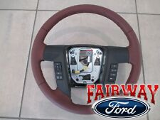 13 thru 14 F-150 OEM Ford Leather Steering Wheel King Ranch w/ Switches NEW