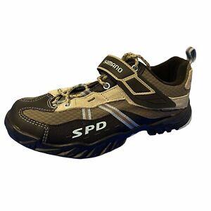Shimano Womens size 7.8 SH-WM41 Mountain Shoes Sneakers Black Gray SPD