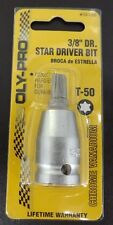 "Star Driver Bit - 3/8"" - T-50  OLY-PRO CHROME VANADIUM"