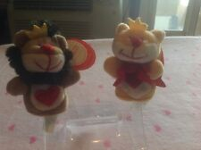 "NWT Lion & Lioness Kissing  3"" Finger Puppets Starbucks Bearista Collectible"