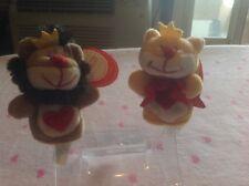 "NWT Starbucks Bearista -Lioness & Lion Kissing Magnet 3"" Finger Puppets CUTE!!!"