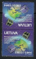 Lithuania 2014 MNH 1st Lithuanian Space stamp satellites LitSat-1 Tête-bêche **