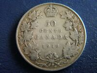 1918 Canada Sterling Silver 50 Cent Piece-19-220