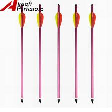 """5pcs 15"""" Tactical Aluminum Metal Hunting Crossbow Bolt Bow Arrow for 150 180 lbs"""