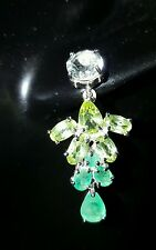 ❤ JAYNES GEMS NATURAL  COLOMBIAN  EMERALD & PERIDOT DROP EARRINGS