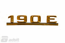 New Mercedes Benz Adhesive Gold Rear Lid Badge for 84-93 190E *2018172015
