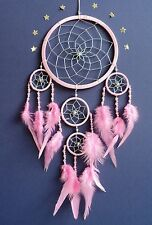 LIGHT PINK SILVER BEADED DREAM CATCHER BABY PINK DREAMCATCHER lovely quality