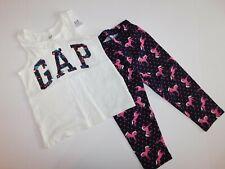 NWT GAP Girl's 2 Pc Set Tank Flip Sequin Logo/Crop Unicorn Leggings XS/4-5 News
