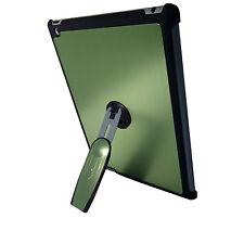 Ipad 3 Verde de la calidad de aluminio duro posterior Funda Con 360 soporte de rotación