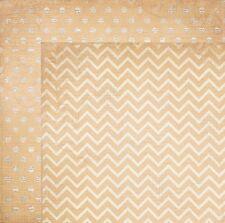 BoBunny 12x12 papel scrapbooking Doble Dot Collection Gasa Chevro X 2 Hojas