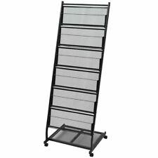 vidaXL Magazine Rack Newspaper Letter Storage Stand Organiser Shelves Black A4