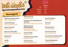 Last-Minute Postkarte Norwegisch. Die wichtigsten Sätze für den Urlaub