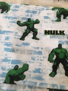 Incredible Hulk Movie 2003 Flat Sheet Only 64 x 96 Excellent Condition!