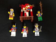 Lego 6 x Ritter und Piraten Pirates Castle Rotrock Figuren Minifiguren Minifigs