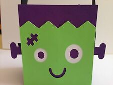 HALLOWEEN Frankenstein Treat Box Loot Bags Handmade With Card Stock
