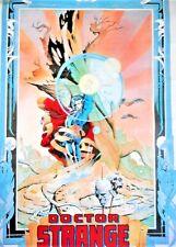 1992 ORIGINAL DR STRANGE POSTER BY SANDY PLUNKETT MARVEL COMIC MAGIC SPELL
