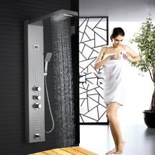 Thermostatic Shower Panel Tower Rain With Massage Body System Sprayer Jet Tap